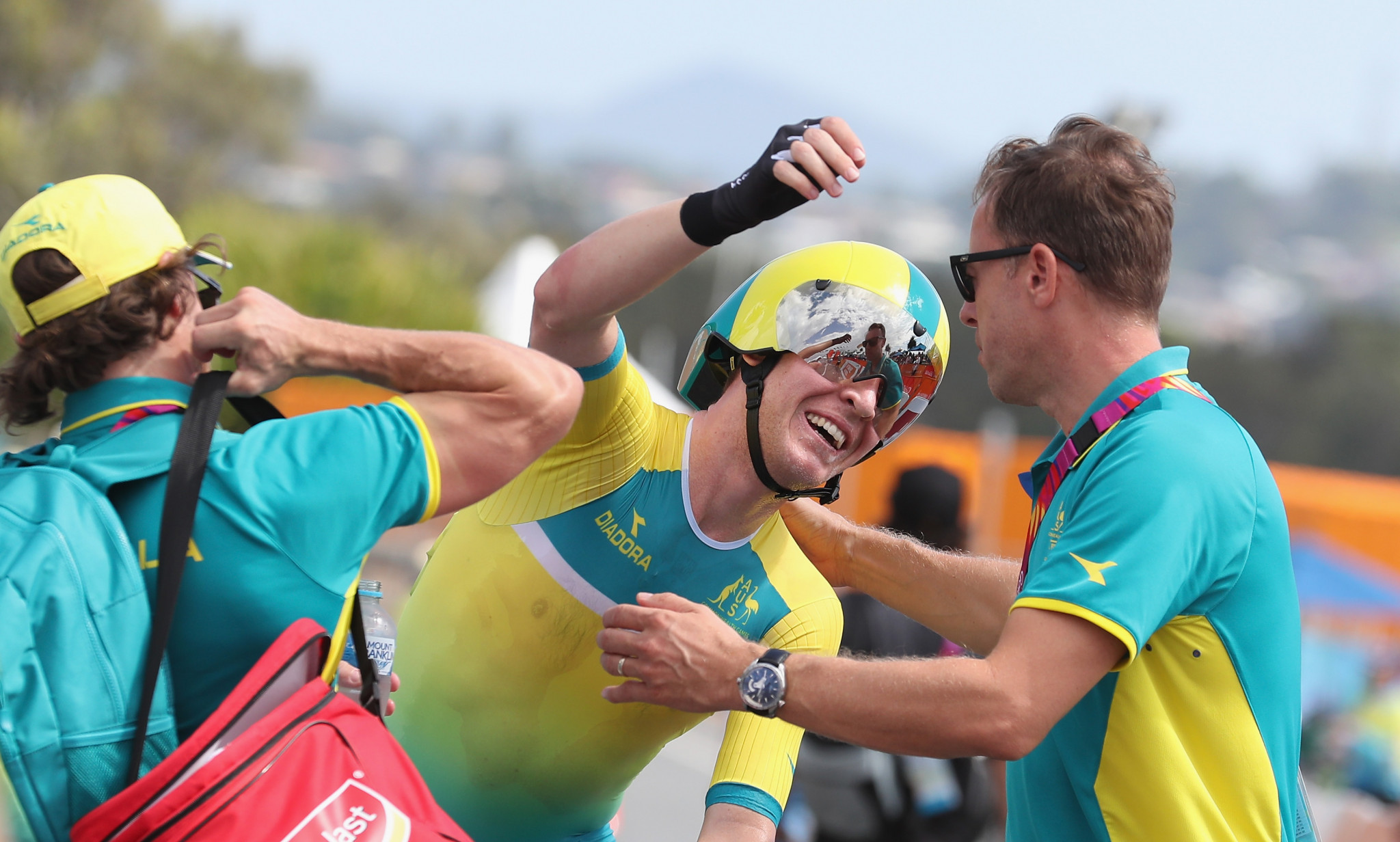 Meyer, Garfoot claim time trial double at Commonwealth Games