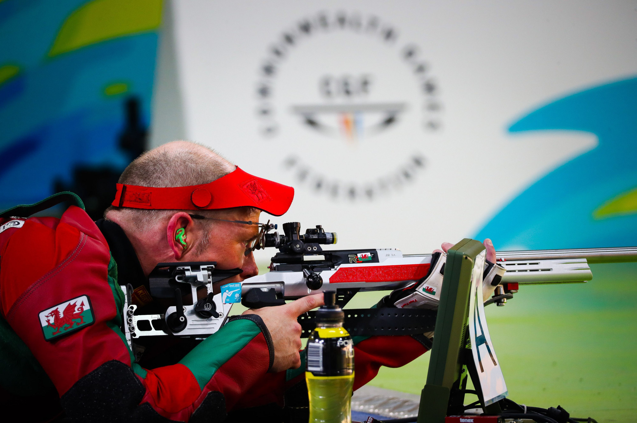 Wales' David Phelps marked his 41st birthday in style as he won the men's 50 metres rifle prone shooting event today at the Gold Coast 2018 Commonwealth Games ©Getty Images