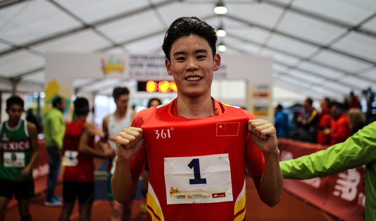 Haoyang Wang of China topped men's qualification in Portugal ©UIPM