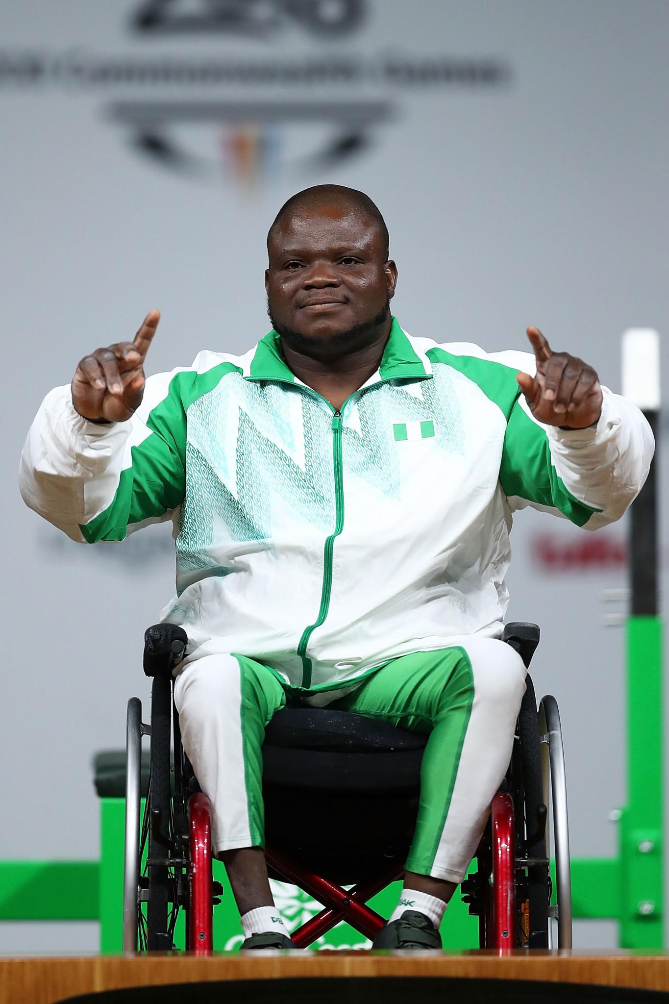 Abdulazeez Ibrahim won the men's heavyweight gold medal ©Getty Images