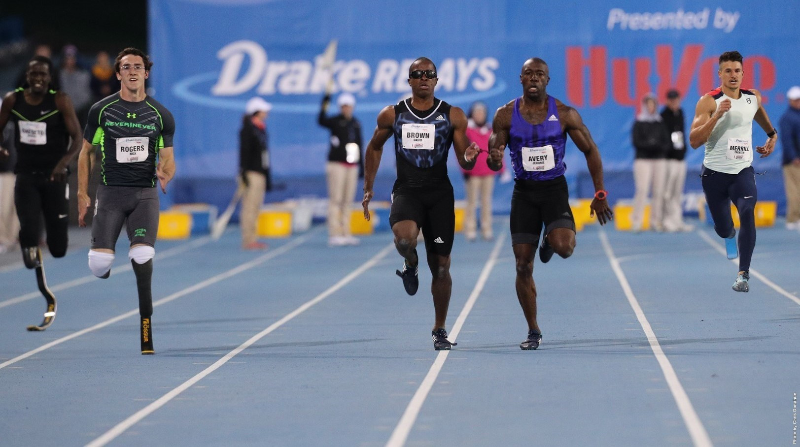 Paralympic gold medallist David Brown and guide Jerome Avery will be among the top US athletes taking part in the Drake Relays later this month ©Drake Relays