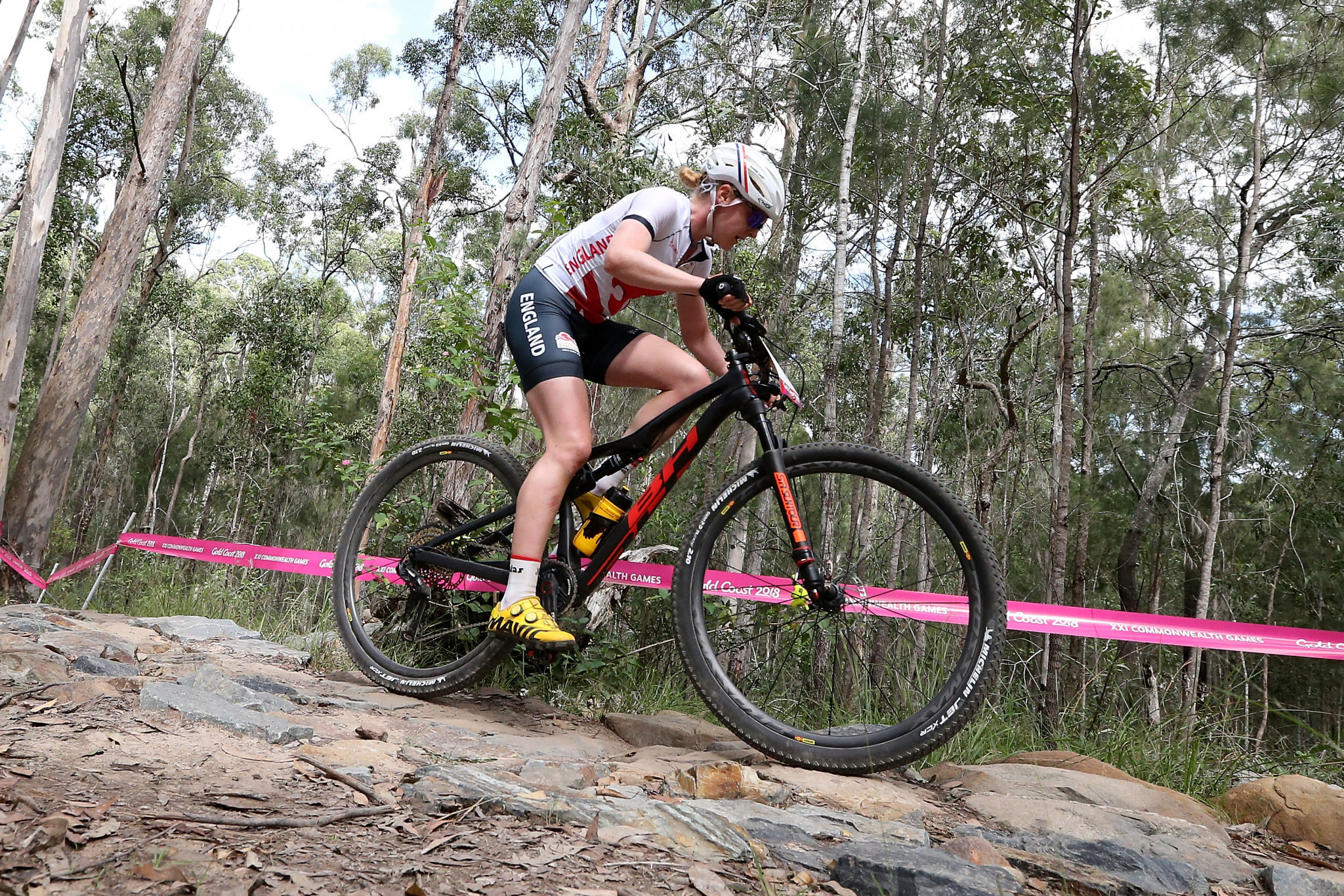 First for Last in women's mountain bike event at Gold Coast 2018 as England secure one-two