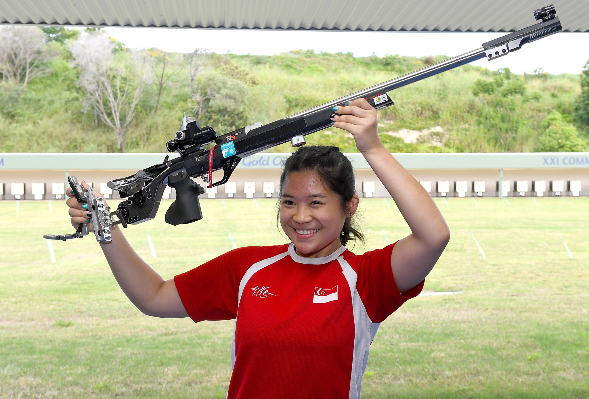 Singaporean breaks Commonwealth Games record to win women's 50m rifle prone event at Gold Coast 2018