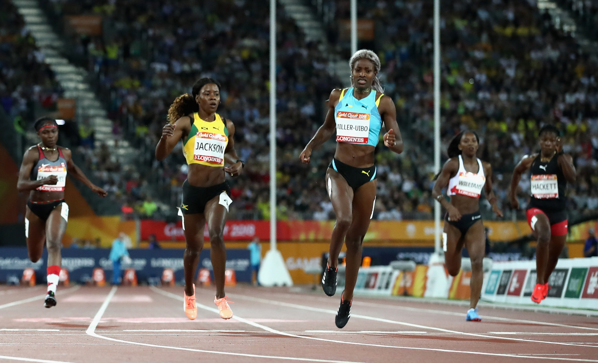 Shaunae Miller-Uibo triumphed in the women's 200m hurdles ©Getty Images