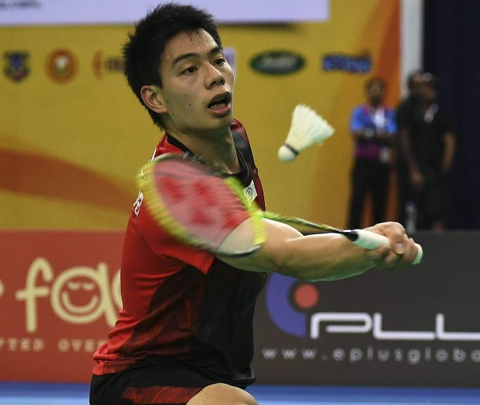 Hsu Jen Hao, Chinese Taipei's top seed, made an early exit from the men's singles at the BWF Lingshui China Masters today ©Getty Images