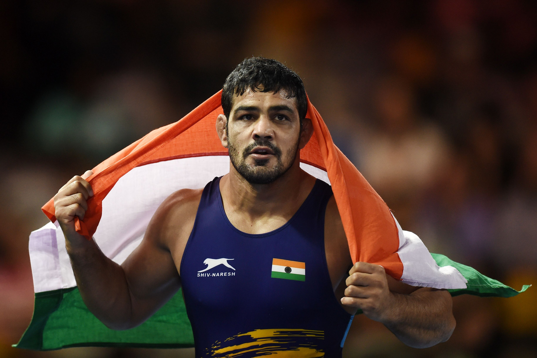 India's Sushil Kumar won the men's 74kg at Gold Coast- the third Commonwealth Games gold of his career