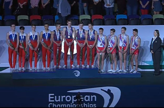 Belarus won the junior men's trampoline team title on the opening day of the European Championships in Trampoline, Double Mini-Trampoline and Tumbling in Baku ©EGU