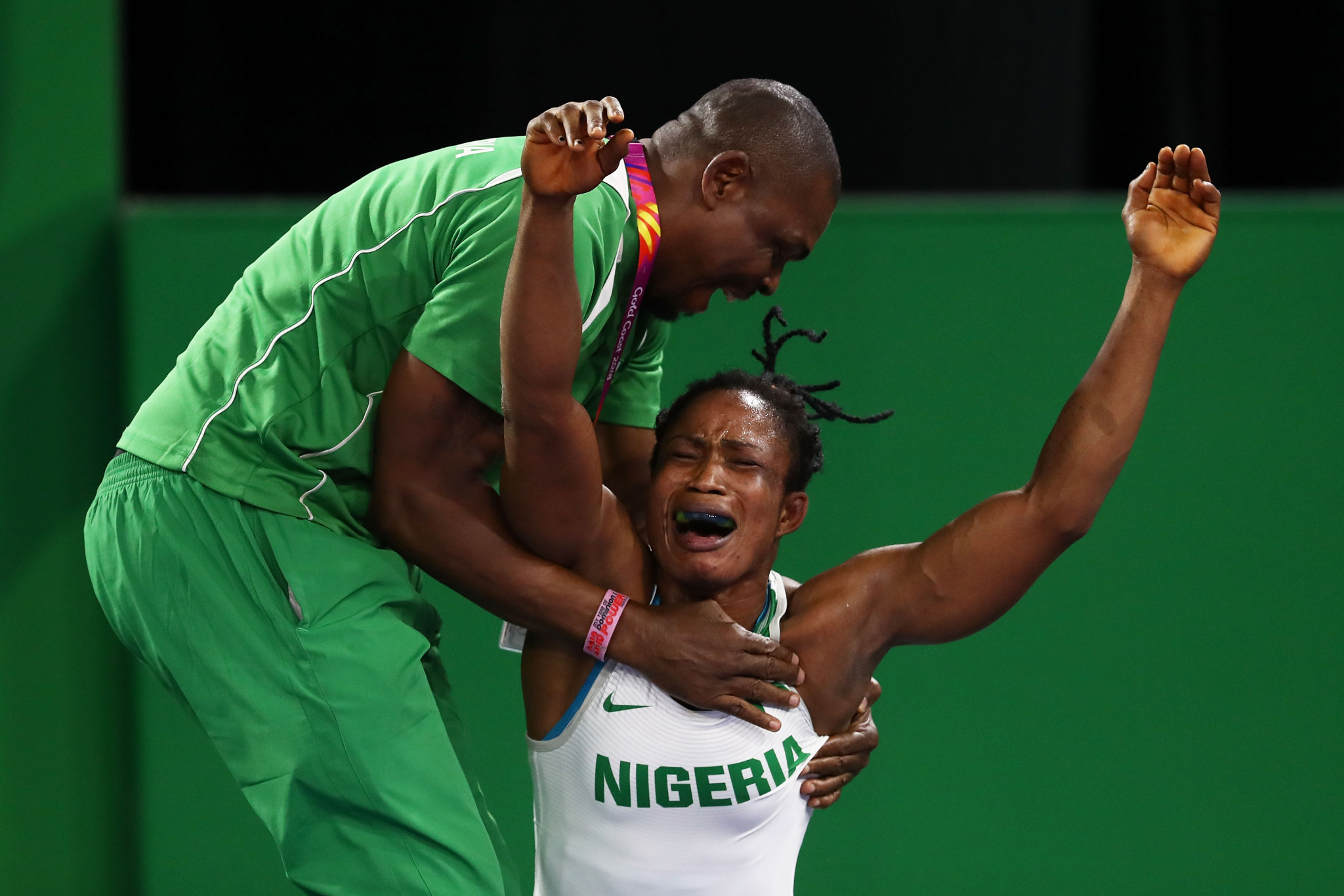 Nigeria shine in women's freestyle events on second day of wrestling action at Gold Coast 2018