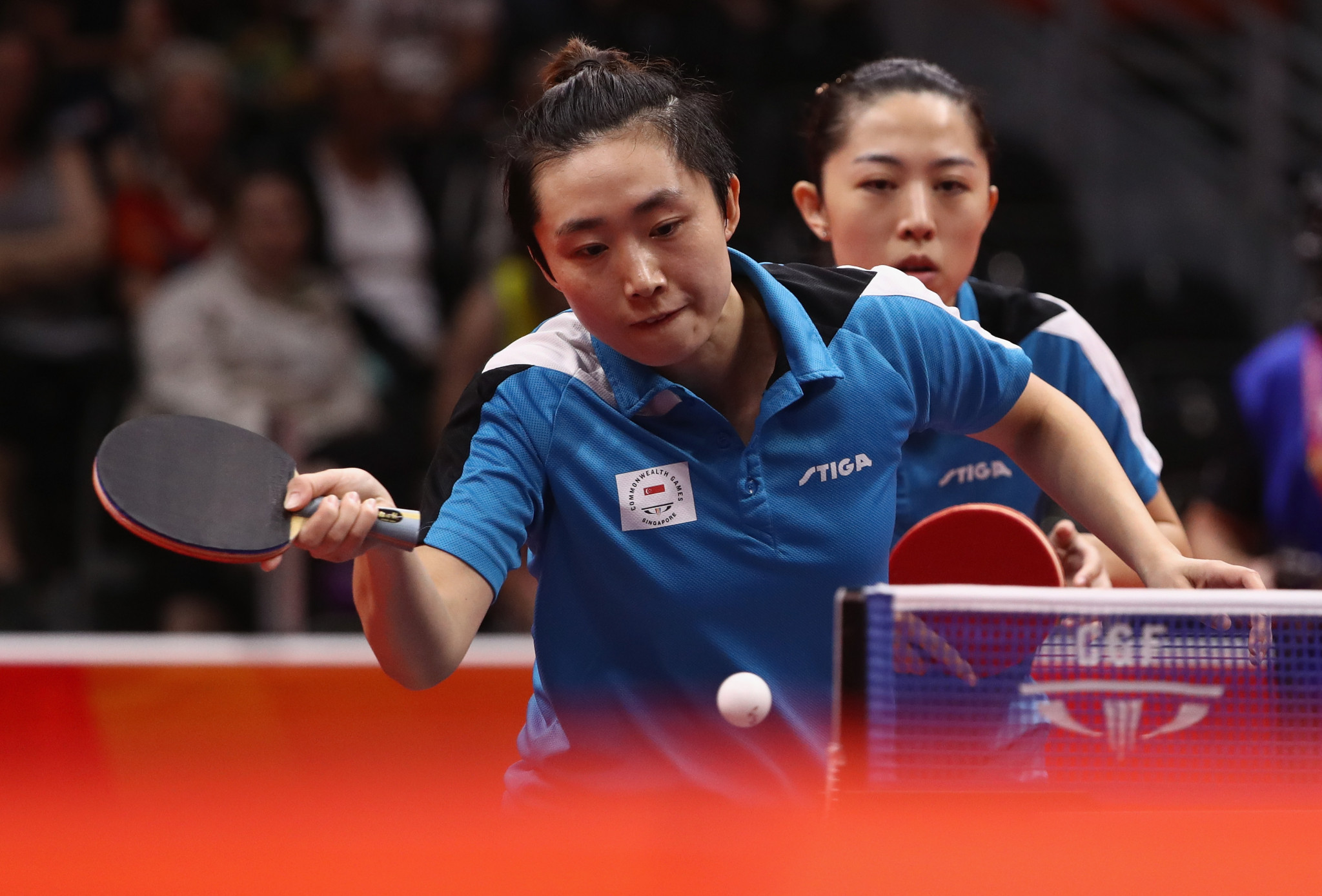 Singapore storm to successful defence of women's doubles table tennis crown at Gold Coast 2018