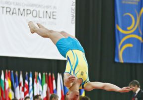 The men's and women's finals in trampoline took place at today's European Championships in Trampoline, Double Mini-Trampoline and Tumbling ©European Gymnastics