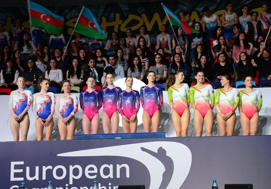 Belarus won the men and women's title in trampoline at the European Championships in Baku ©AGF