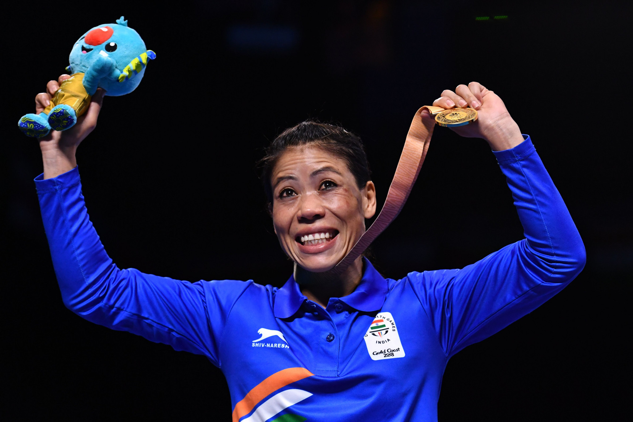 Five-time world champion MC Mary Kom became the first Indian female boxer to win a gold medal at a Commonwealth Games today ©Getty Images