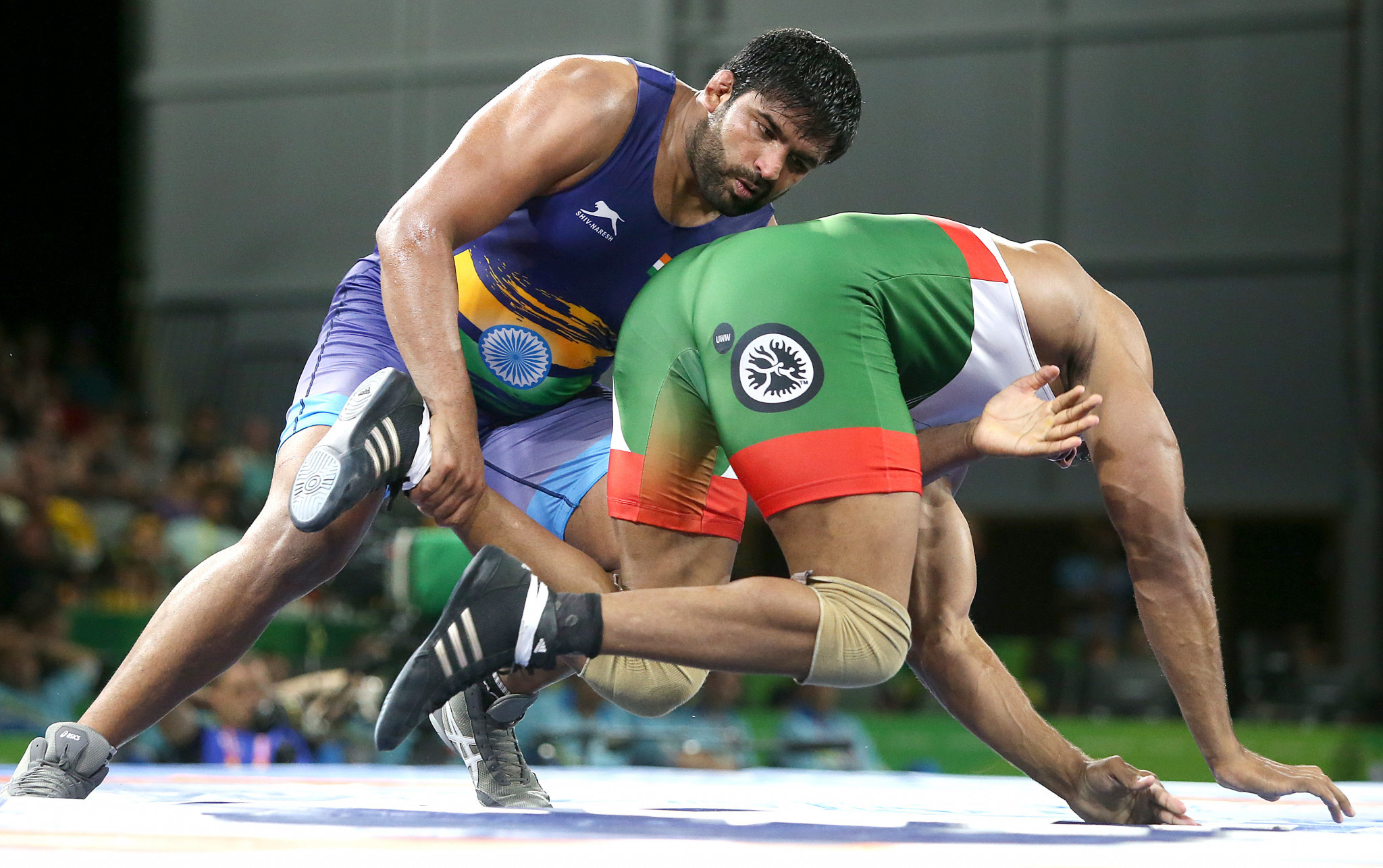 India's Sumit came out on top in the men's 125kg freestyle category ©Getty Images