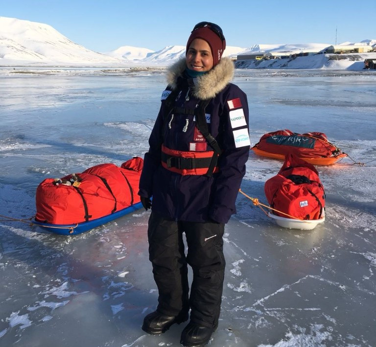 Sheikha Asma Al Thani will hope to become the first Qatari to ski to the North Pole ©QOC