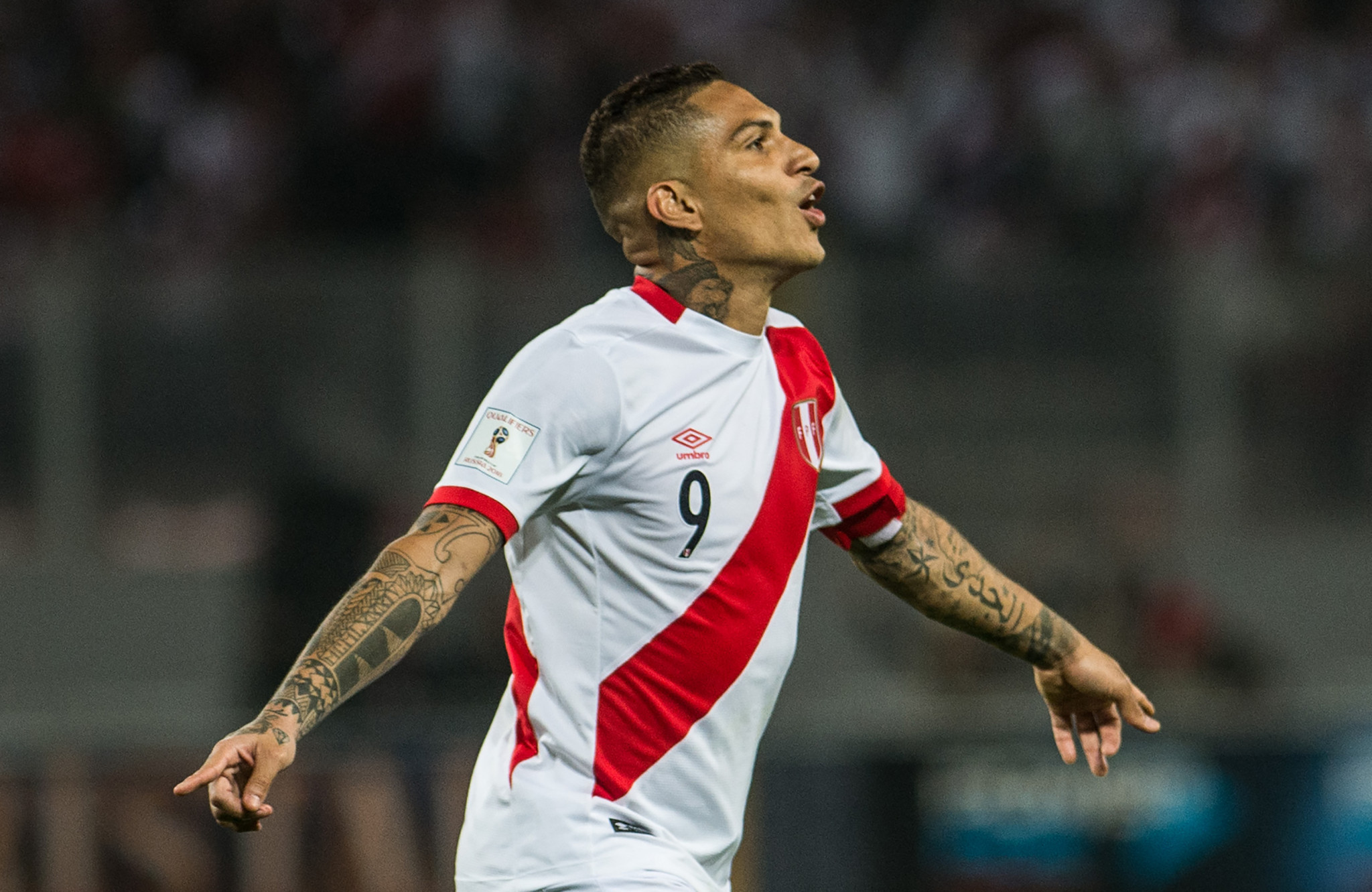 Paolo Guerrero could now miss Peru's first FIFA World Cup since 1982 ©Getty Images
