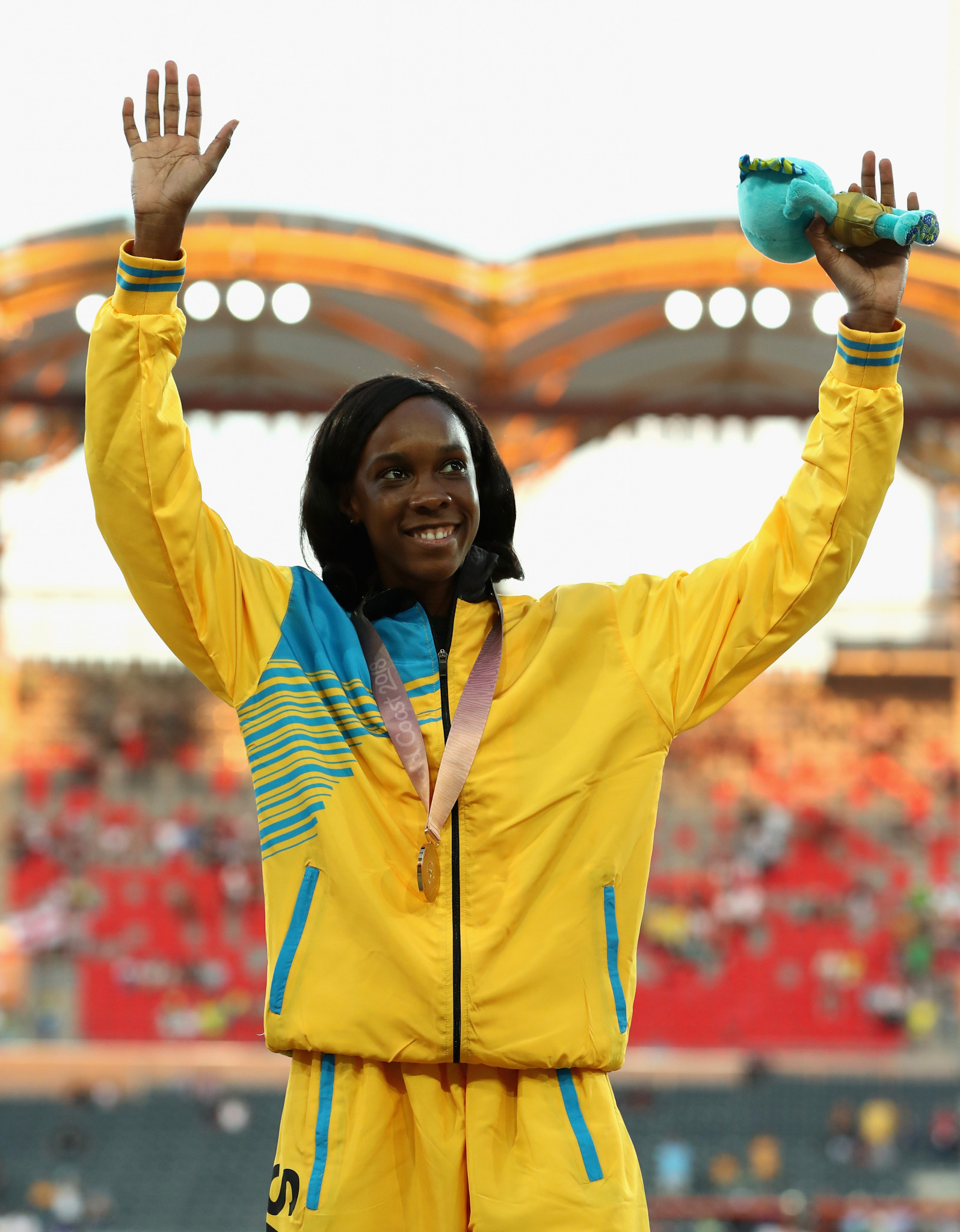 High jumper Spencer claims historic gold medal for St Lucia on day 10 of the Gold Coast 2018 Commonwealth Games