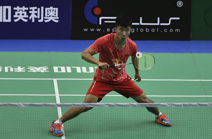 Home player Lu Guangzu earned a place in the final of the BWF Lingshui China Masters with victory over 19-year-old compatriot Sun Feixiang as the shocks at the tournament continued ©BWF