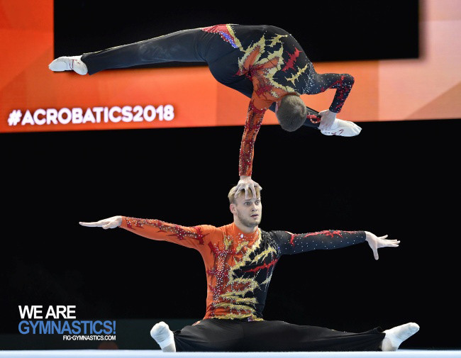 Russians collect first two golds of FIG Acrobatics World Championships in Antwerp