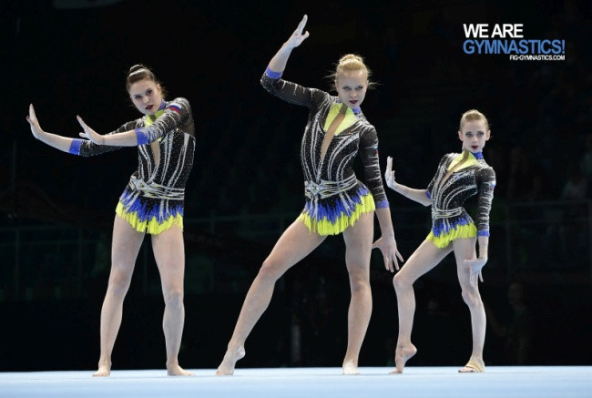 Russia retained the women's group title at the Acrobatics World Championships in Antwerp ©FIG