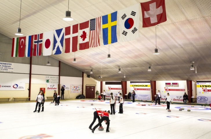 Hosts Denmark are enjoying a hugely successful tournament at the Tarnby Curling Club this week ©World Curling