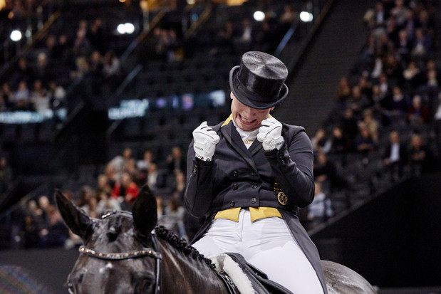 Isabell Werth retains her Dressage World Cup title in Paris ©FEI