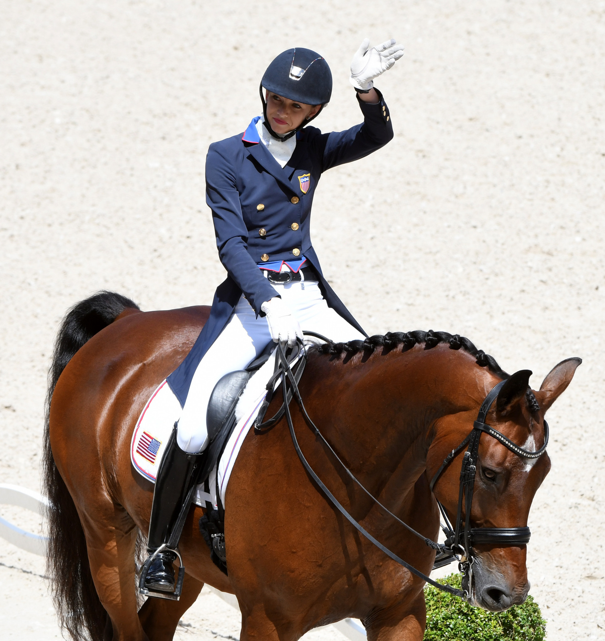 Laura Graves produced a personal best in the Dressage World Cup at Paris but still had to settle for another silver ©FEI