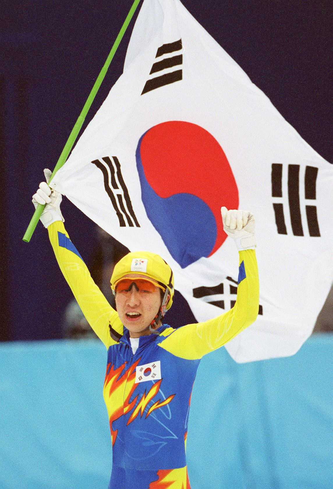 Chun Lee-kyung is among top South Korean short track speed skaters Jun Myung-kyu has helped reach the top ©Getty Images