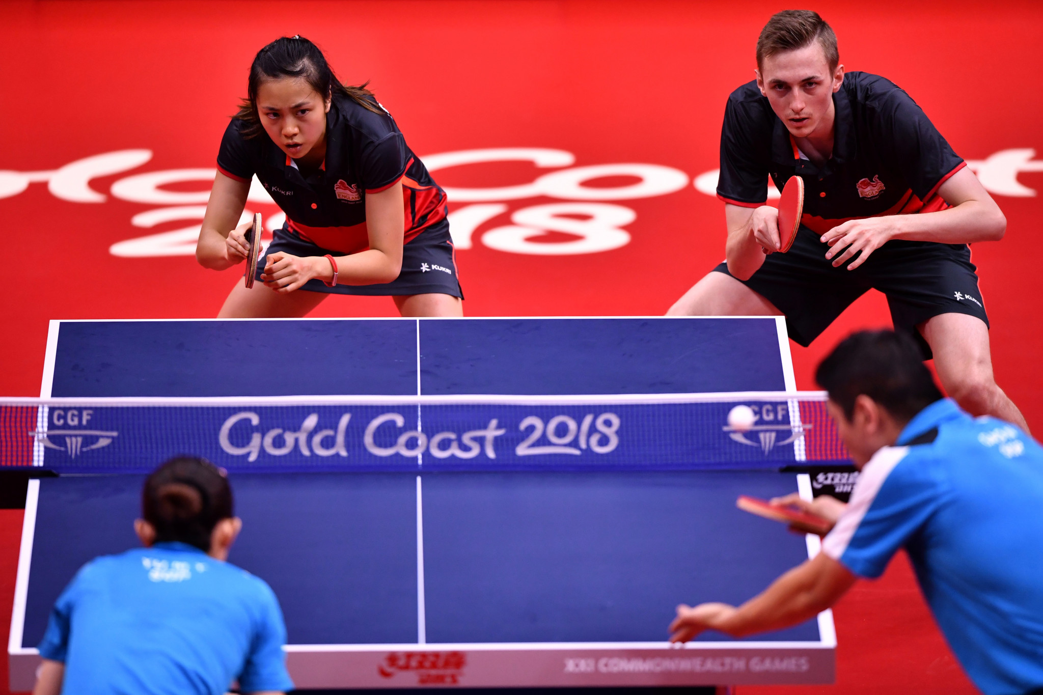Gao Ning and Yu Mengyu produced a commanding performance to win the mixed doubles crown ©Getty Images
