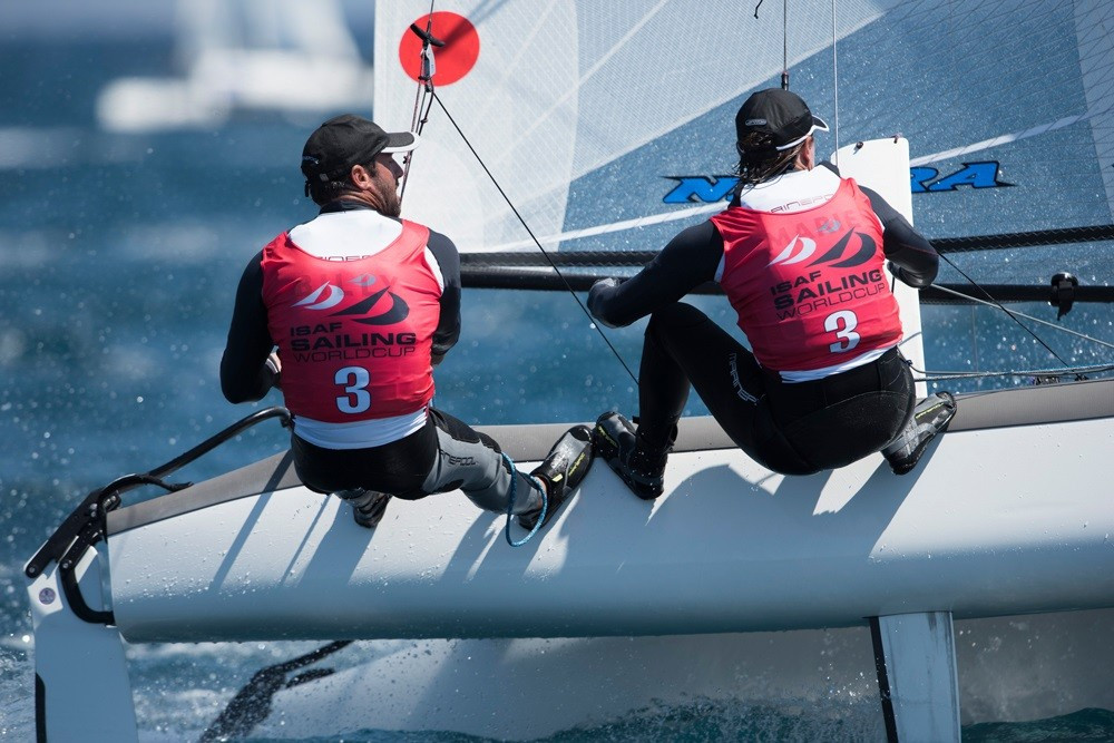 Hosts bag early Nacra 17 gold at Sailing World Cup Hyères