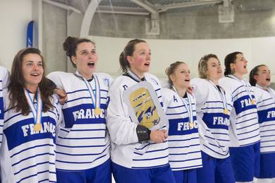 France earned promotion to next year's International Ice Hockey Federation Women's World Championship ©IIHF
