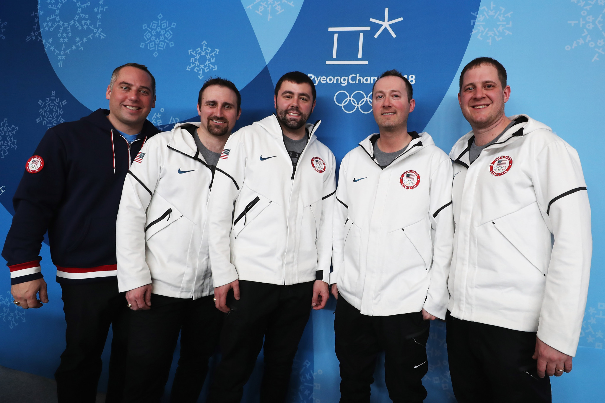 Phill Drobnick, left, guided America to the men's curling Olympic gold medal at Pyeongchang ©Getty Images