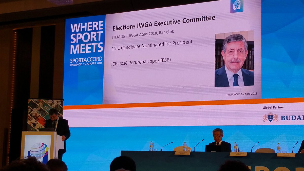 José Perurena has been re-elected President of the International World Games Association ©Twitter