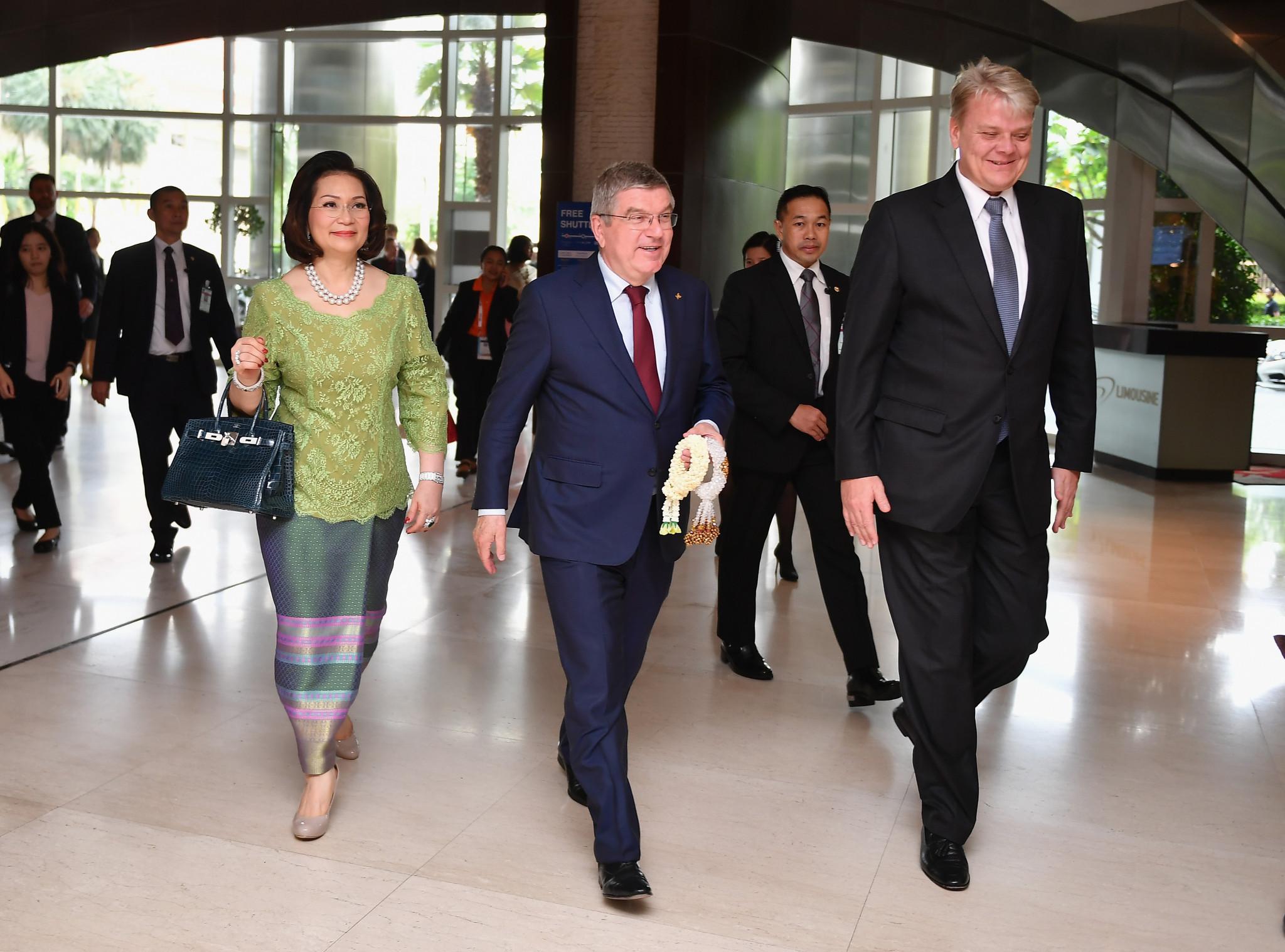 Bach arrives in Bangkok as SportAccord Summit begins