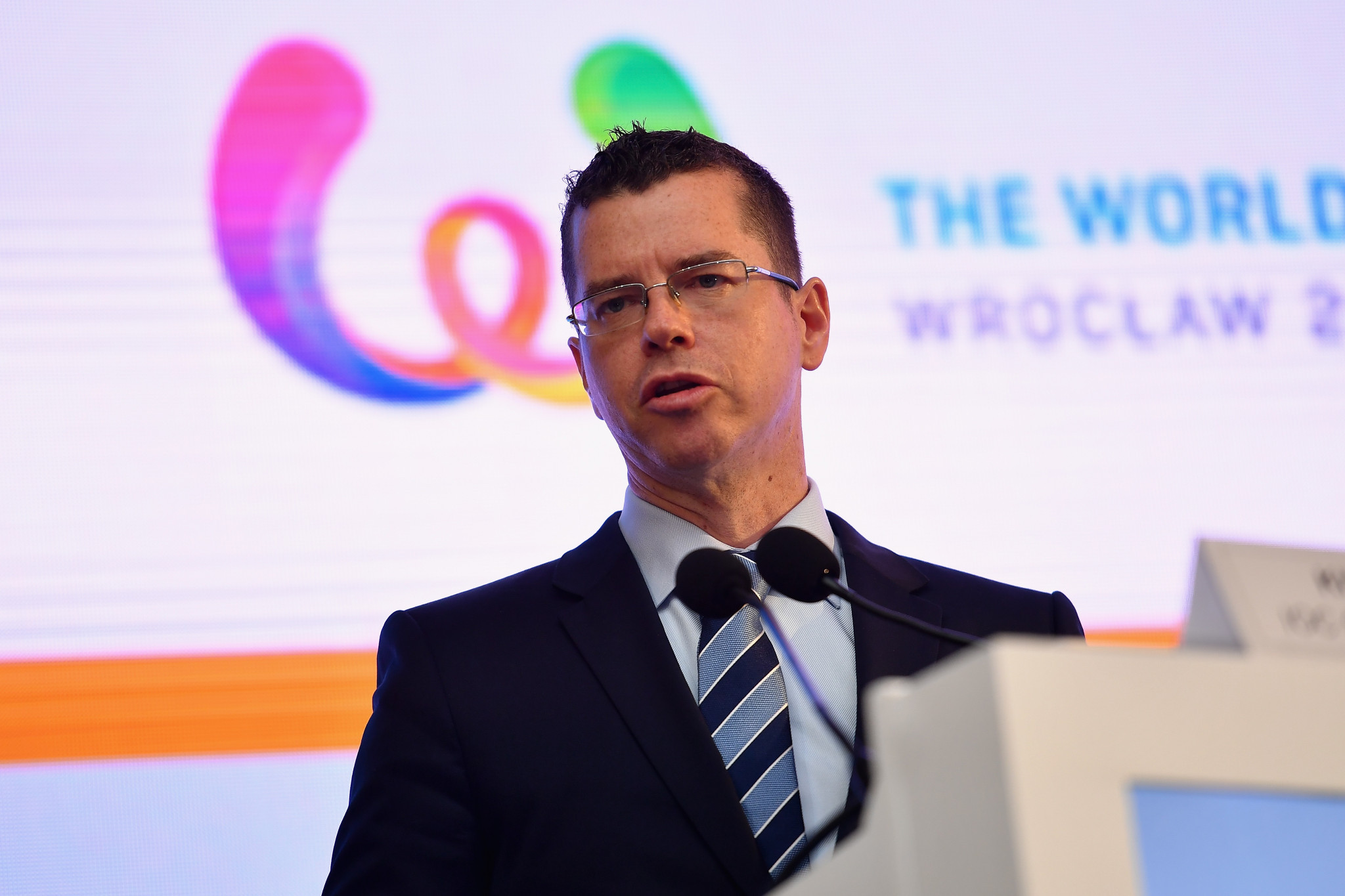 IOC sports director Kit McConnell addressed the International World Games Association (IWGA) Annual General Meeting (AGM) ©Getty Images