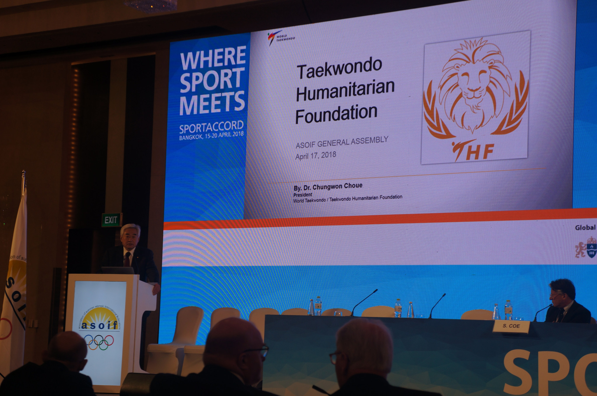 World Taekwondo President invites International Federations to collaborate on THF projects