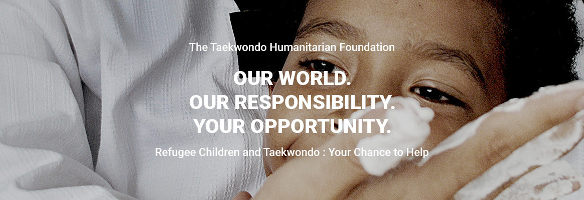 The THF empowers refugees and displaced persons worldwide by training them in taekwondo ©THF