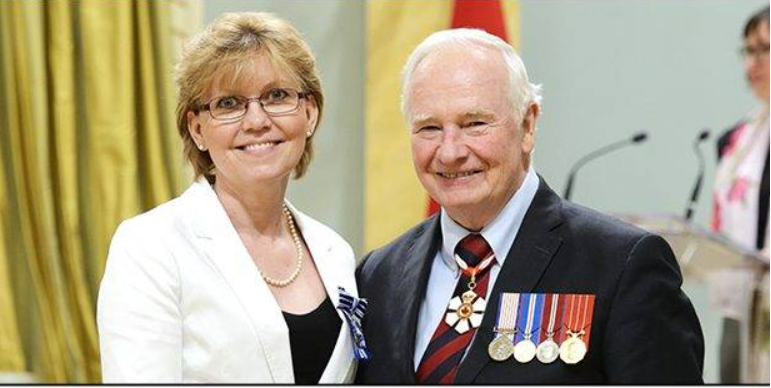 Barbara Marian, pictured with Canada's Governor General, has been officially appointed as Taekwondo Canada's referee chair through to 2020 ©Taekwondo Canada