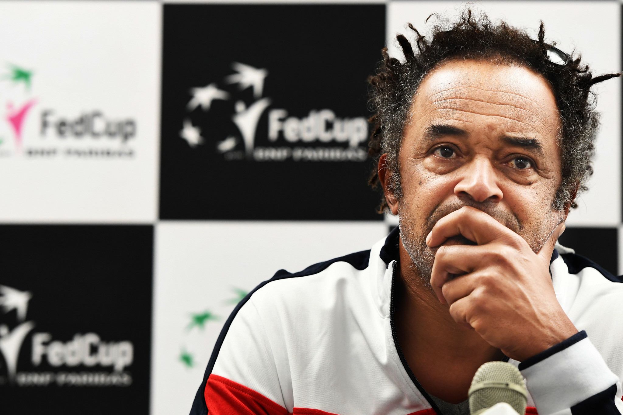 France's Davis Cup captain Yannick Noah 