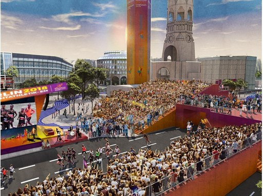 Breitscheidplatz square to be focal point of activities during 2018 European Athletics Championships in Berlin