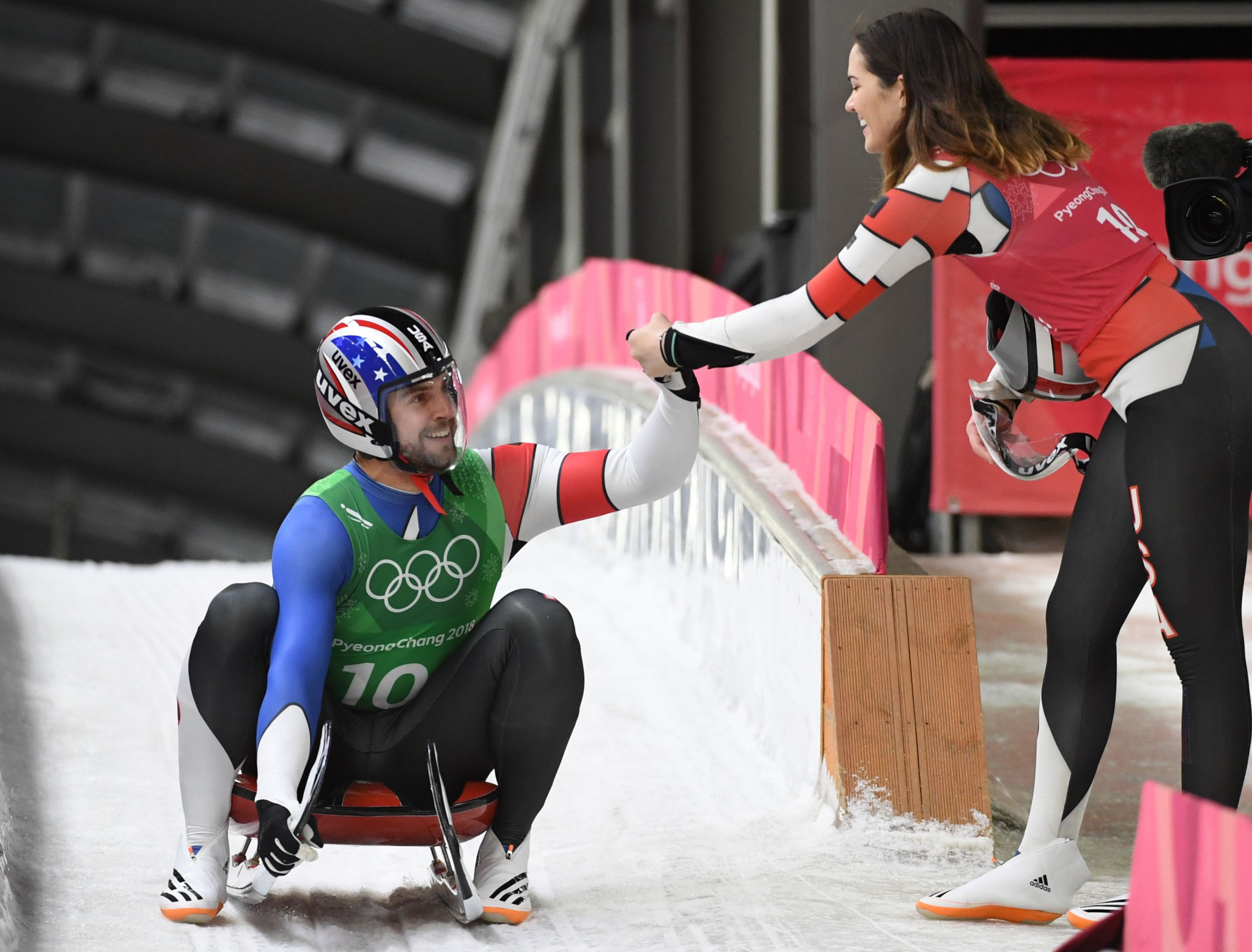 Chris Mazdzer claimed silver in the men's luge event at the 2018 Winter Olympics ©Getty Images