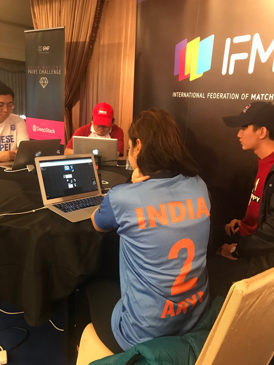 The tournament comprised a strict rotation of individual heads-up freeze-out tournaments against DeepStack ©Indian Fed. Poker/Twitter