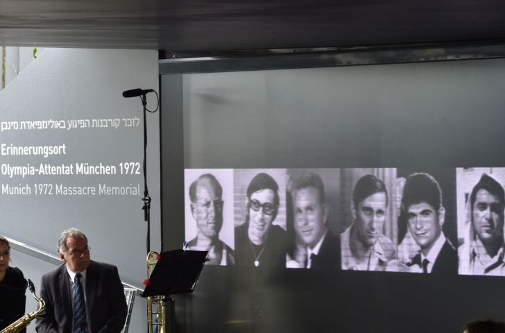Portraits of some of the Israeli athletes murdered at the 1972 Olympics are displayed inside the Memorial Centre in Munich on during ceremonies marking the 45th anniversary of the attack last September ©Getty Images