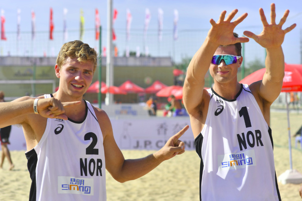 Norwegian qualifers beat Olympic champions in FIVB Beach World Tour event at Xiamen
