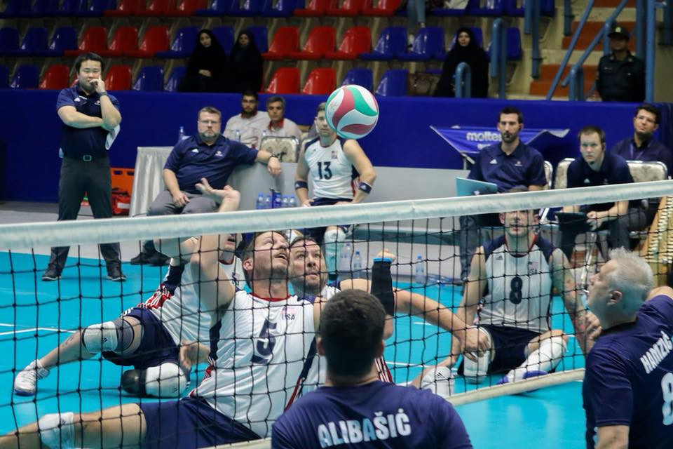 Bosnia and Hercegovina on the attack in the World Super 6 in Iran today ©worldparavolley.org
