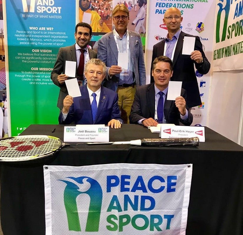 Peace and Sport signs Memorandum of Understanding with Badminton World Federation