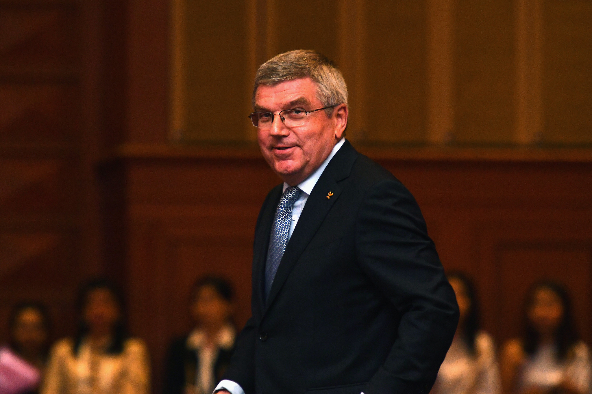 Thomas Bach spoke at a meeting attended by all 33 sports on the Tokyo 2020 Olympic programme ©Getty Images