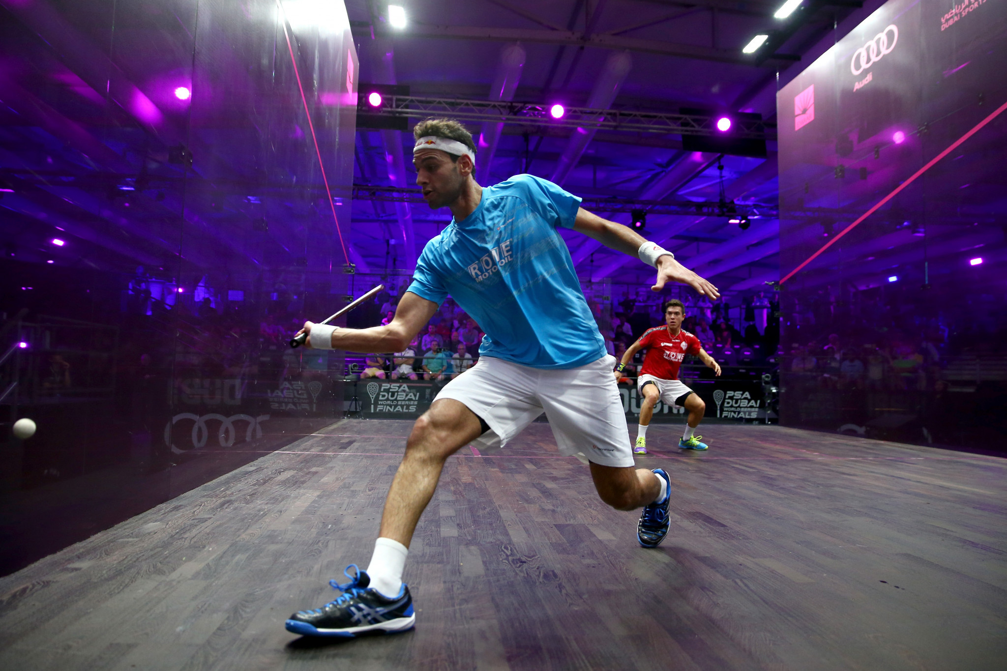 Home top seeds Elshorbagy and El Sherbini make winning starts at El Gouna International