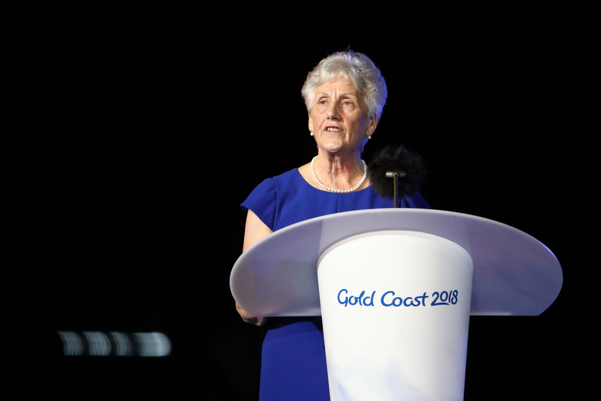 Louise Martin made it to the Closing Ceremony of the 2018 Commonwealth Games in the Gold Coast Coast - unlike Perth 1962 when she missed it because she fell asleep ©Getty Images