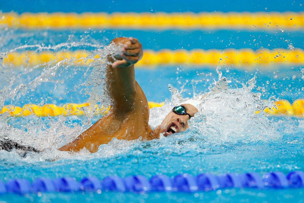Ahmed Akram won gold in the pool for Egypt