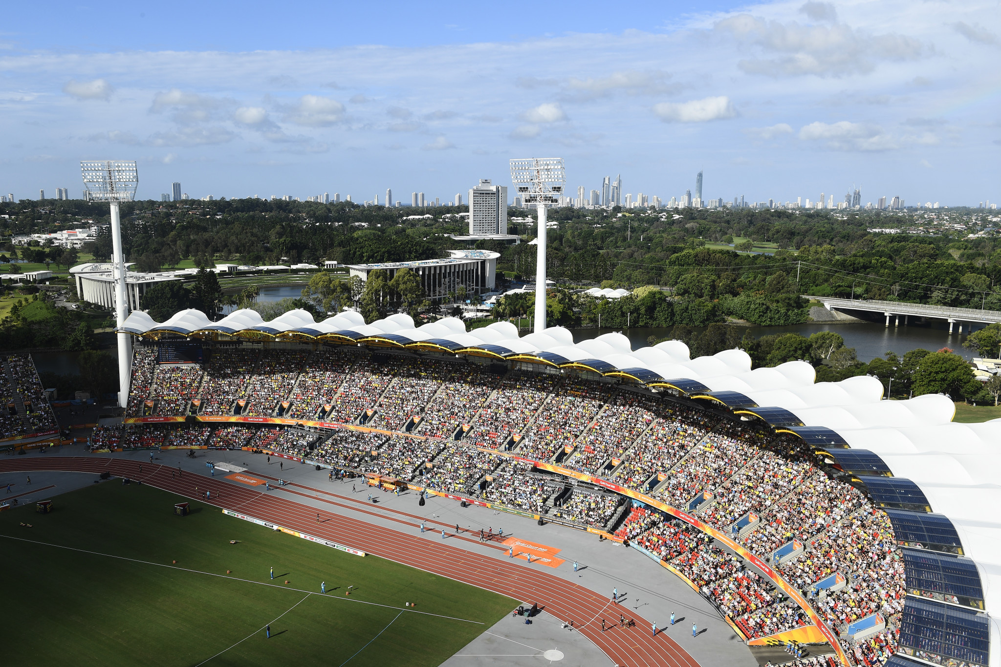 The Carrara Stadium, which hosted athletics, was a popular venue during the 2018 Commonwealth Games in the Gold Coast and has encouraged the city's Mayor Tom Tate to launch a bid for the IAAF World Championships ©Getty Images